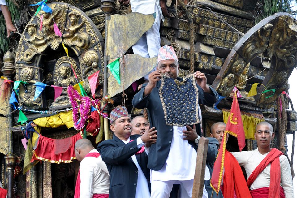 Bhoto Jatra (chariot festival) in Nepal