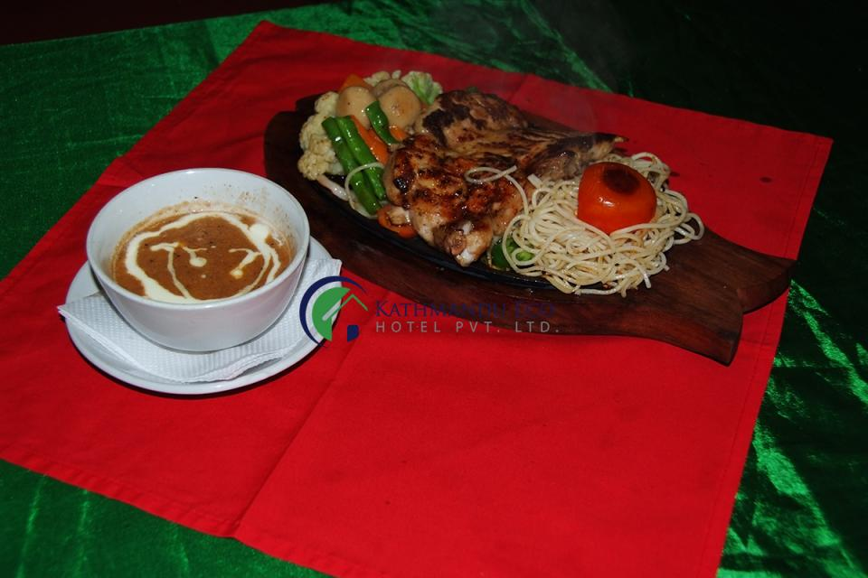 Kathmandu Eco Hotel chicken sizzler